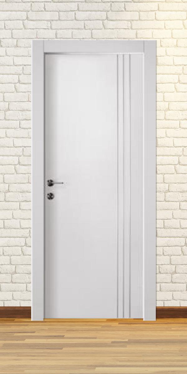 דלת פנים פולימר פסים לגובה